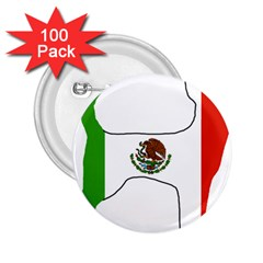 Chihuahua Mexico Flag Silhouette 2 25  Buttons (100 Pack)  by TailWags