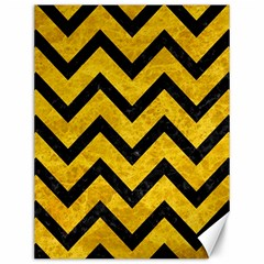 Chevron9 Black Marble & Yellow Marble (r) Canvas 12  X 16  by trendistuff