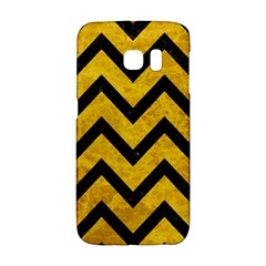 Chevron9 Black Marble & Yellow Marble (r) Samsung Galaxy S6 Edge Hardshell Case by trendistuff