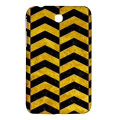 Chevron2 Black Marble & Yellow Marble Samsung Galaxy Tab 3 (7 ) P3200 Hardshell Case  by trendistuff