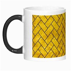 Brick2 Black Marble & Yellow Marble (r) Morph Mug by trendistuff