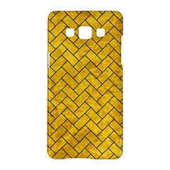 Brick2 Black Marble & Yellow Marble (r) Samsung Galaxy A5 Hardshell Case  by trendistuff