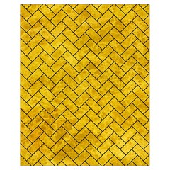 Brick2 Black Marble & Yellow Marble (r) Drawstring Bag (small) by trendistuff