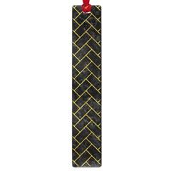 Brick2 Black Marble & Yellow Marble Large Book Mark by trendistuff