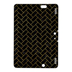 Brick2 Black Marble & Yellow Marble Kindle Fire Hdx 8 9  Hardshell Case by trendistuff