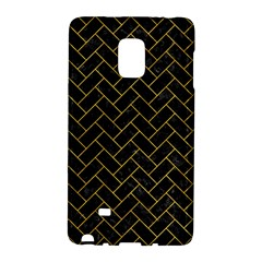 Brick2 Black Marble & Yellow Marble Samsung Galaxy Note Edge Hardshell Case by trendistuff