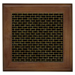 Brick1 Black Marble & Yellow Marble Framed Tile