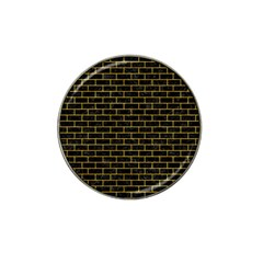Brick1 Black Marble & Yellow Marble Hat Clip Ball Marker (10 Pack) by trendistuff
