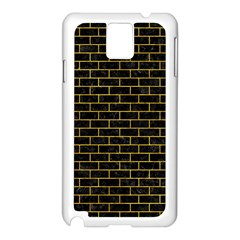 Brick1 Black Marble & Yellow Marble Samsung Galaxy Note 3 N9005 Case (white) by trendistuff