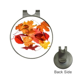 Autumn Leaves Leaf Transparent Hat Clips With Golf Markers