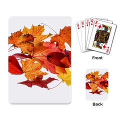 Autumn Leaves Leaf Transparent Playing Card by Amaryn4rt