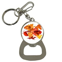 Autumn Leaves Leaf Transparent Button Necklaces by Amaryn4rt