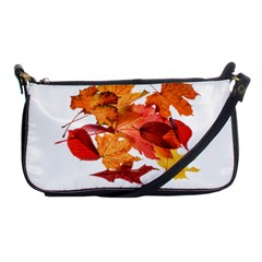 Autumn Leaves Leaf Transparent Shoulder Clutch Bags by Amaryn4rt