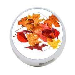 Autumn Leaves Leaf Transparent 4 Port Usb Hub (two Sides)  by Amaryn4rt