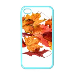 Autumn Leaves Leaf Transparent Apple Iphone 4 Case (color) by Amaryn4rt