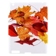 Autumn Leaves Leaf Transparent Apple Ipad 3/4 Hardshell Case by Amaryn4rt