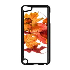 Autumn Leaves Leaf Transparent Apple Ipod Touch 5 Case (black) by Amaryn4rt