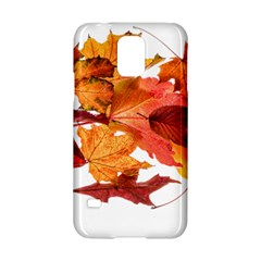 Autumn Leaves Leaf Transparent Samsung Galaxy S5 Hardshell Case  by Amaryn4rt