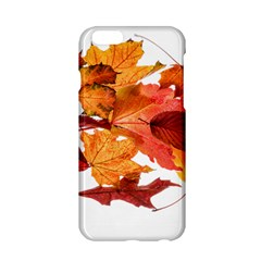 Autumn Leaves Leaf Transparent Apple Iphone 6/6s Hardshell Case by Amaryn4rt