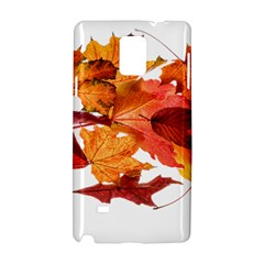Autumn Leaves Leaf Transparent Samsung Galaxy Note 4 Hardshell Case by Amaryn4rt