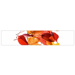Autumn Leaves Leaf Transparent Flano Scarf (Small) by Amaryn4rt