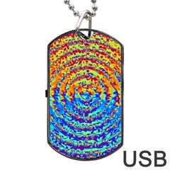 Background Color Game Pattern Dog Tag Usb Flash (one Side) by Amaryn4rt