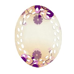 Background Floral Background Oval Filigree Ornament (two Sides) by Amaryn4rt