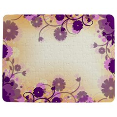 Background Floral Background Jigsaw Puzzle Photo Stand (rectangular) by Amaryn4rt
