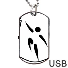 Aéroball Pictogram Dog Tag Usb Flash (two Sides) by abbeyz71