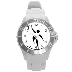 Aéroball Pictogram Round Plastic Sport Watch (l) by abbeyz71