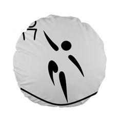 Aéroball Pictogram Standard 15  Premium Flano Round Cushions by abbeyz71