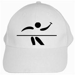 Badminton Pictogram White Cap by abbeyz71