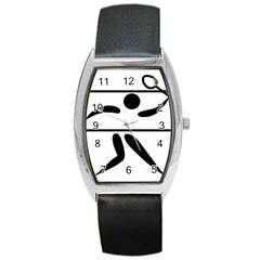 Badminton Pictogram Barrel Style Metal Watch by abbeyz71