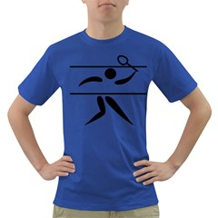 Badminton Pictogram Dark T Shirt by abbeyz71