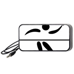 Badminton Pictogram Portable Speaker (black) by abbeyz71