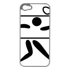 Badminton Pictogram Apple Iphone 5 Case (silver) by abbeyz71