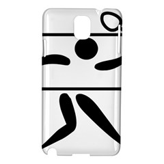 Badminton Pictogram Samsung Galaxy Note 3 N9005 Hardshell Case by abbeyz71