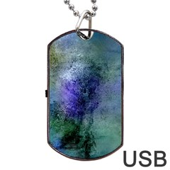 Background Texture Structure Dog Tag USB Flash (One Side) by Amaryn4rt
