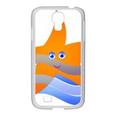 Beach Sea Sea Shell Swimming Samsung Galaxy S4 I9500/ I9505 Case (white)