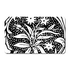 Decoration Pattern Design Flower Magnet (rectangular) by Amaryn4rt