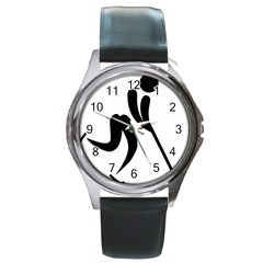 Bandy Pictogram Round Metal Watch by abbeyz71