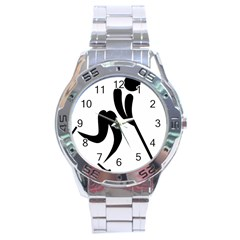 Bandy Pictogram Stainless Steel Analogue Watch by abbeyz71