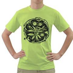 Decoration Pattern Design Flower Green T Shirt
