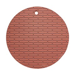 Brick Lake Dusia Wall Round Ornament (two Sides) by Amaryn4rt