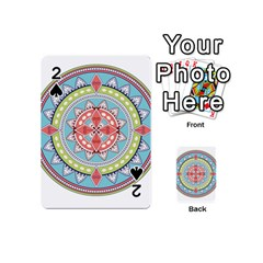 Drawing Mandala Art Playing Cards 54 (mini)  by Amaryn4rt