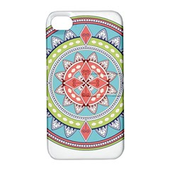 Drawing Mandala Art Apple Iphone 4/4s Hardshell Case With Stand by Amaryn4rt