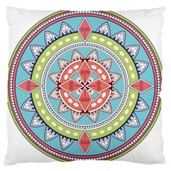 Drawing Mandala Art Standard Flano Cushion Case (one Side) by Amaryn4rt