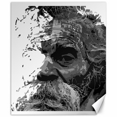 Grandfather Old Man Brush Design Canvas 8  X 10