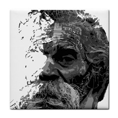 Grandfather Old Man Brush Design Face Towel by Amaryn4rt