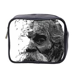 Grandfather Old Man Brush Design Mini Toiletries Bag 2 Side by Amaryn4rt